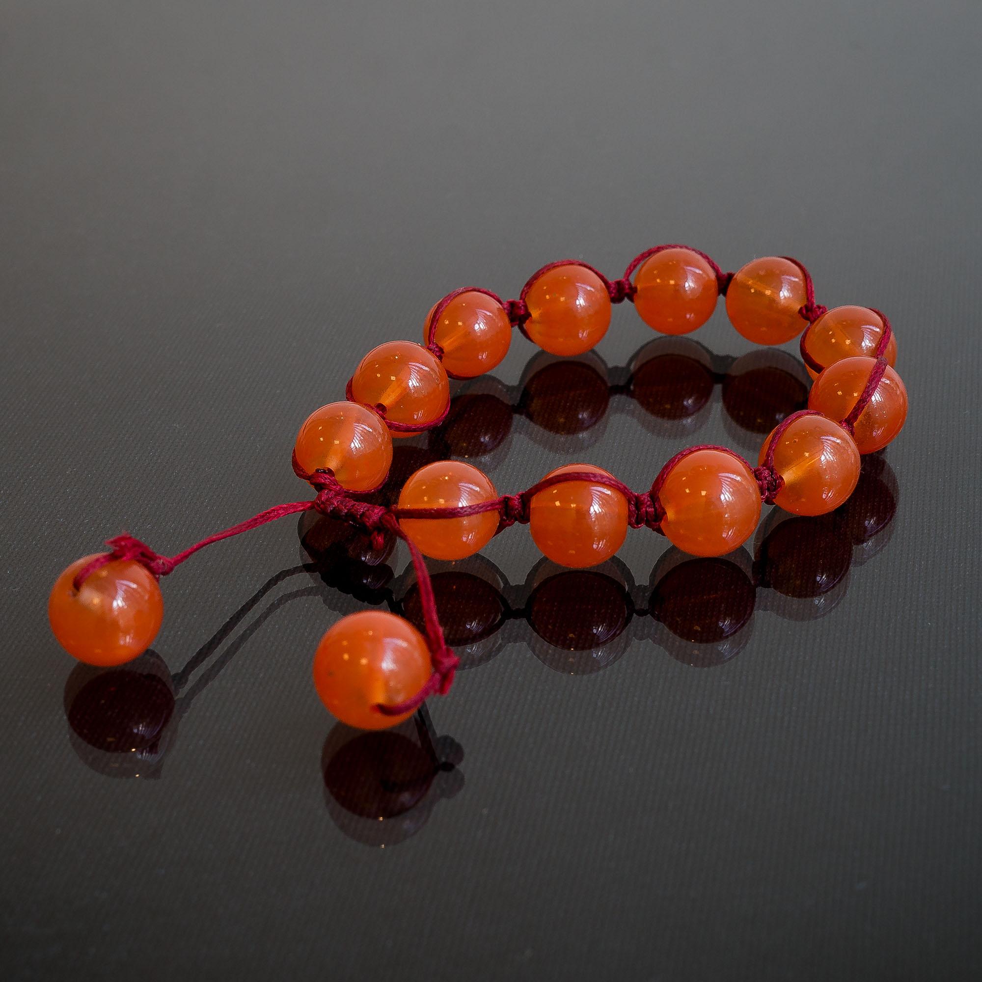 glas V2 kraal oranje
