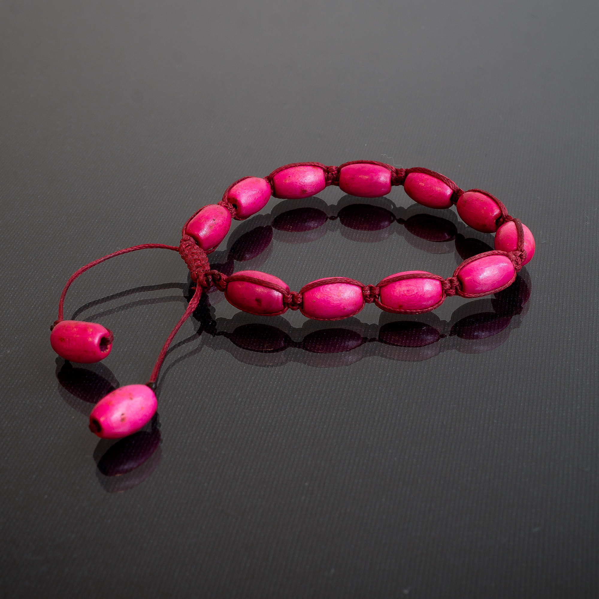glas V6 kraal roze